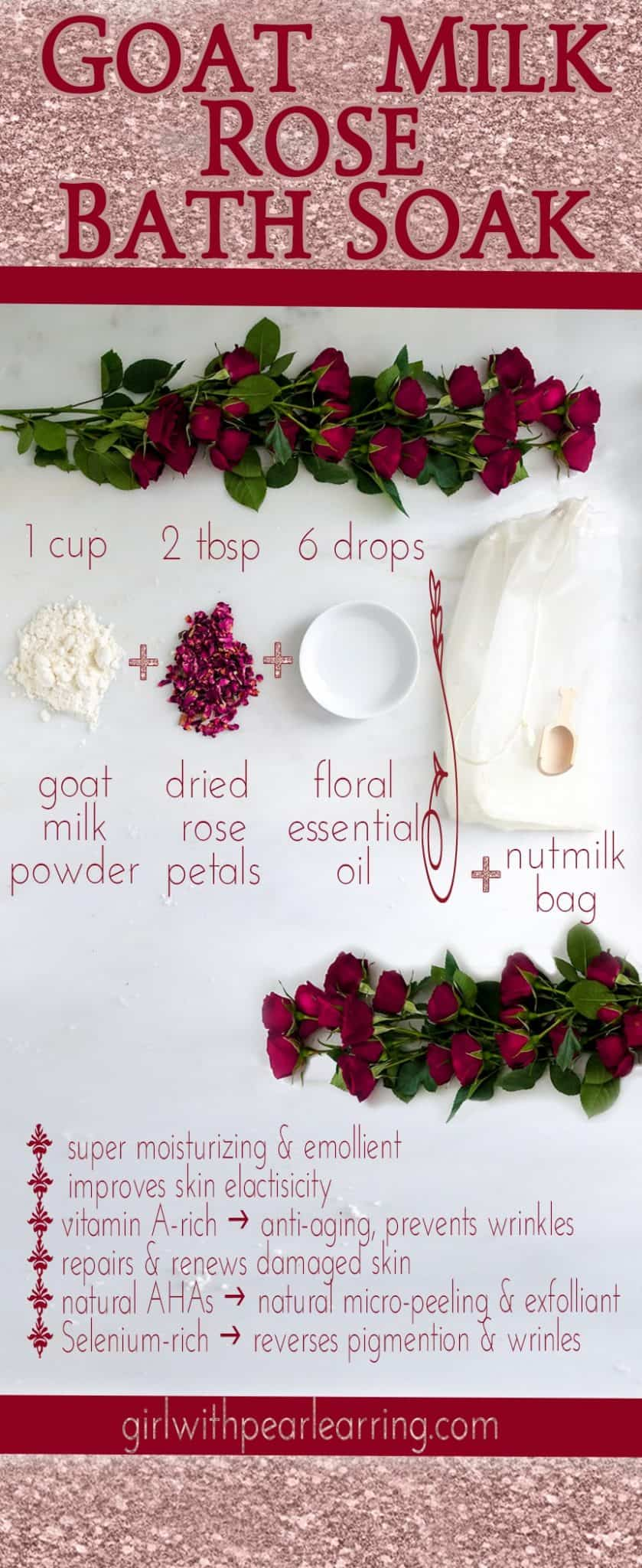 Goat milk bath soak