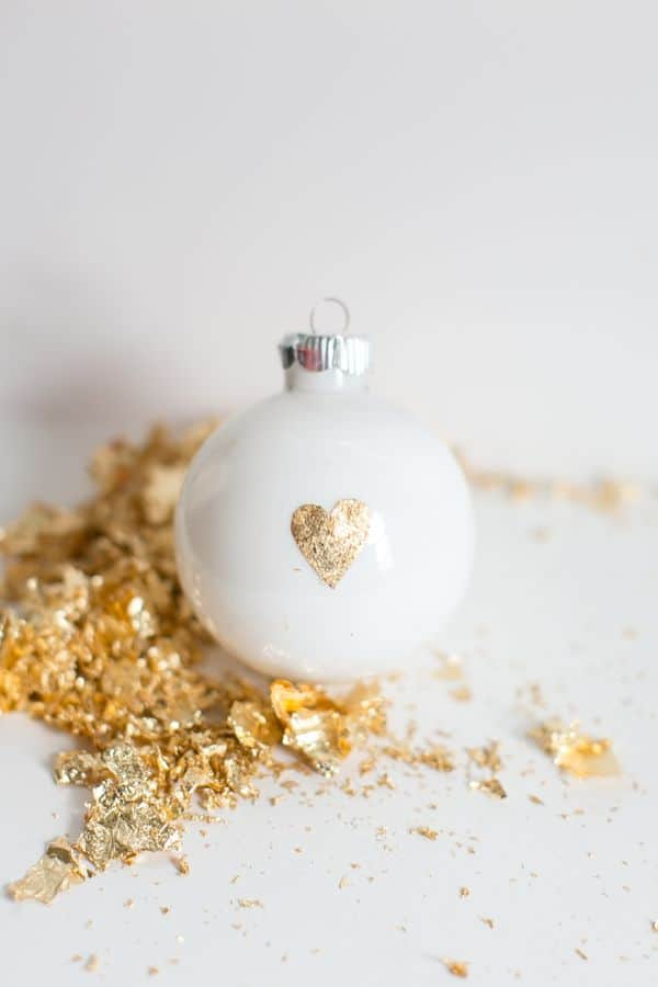 Gold leaf heart ornament