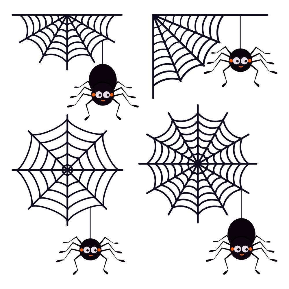 Halloween spider web wall stickers