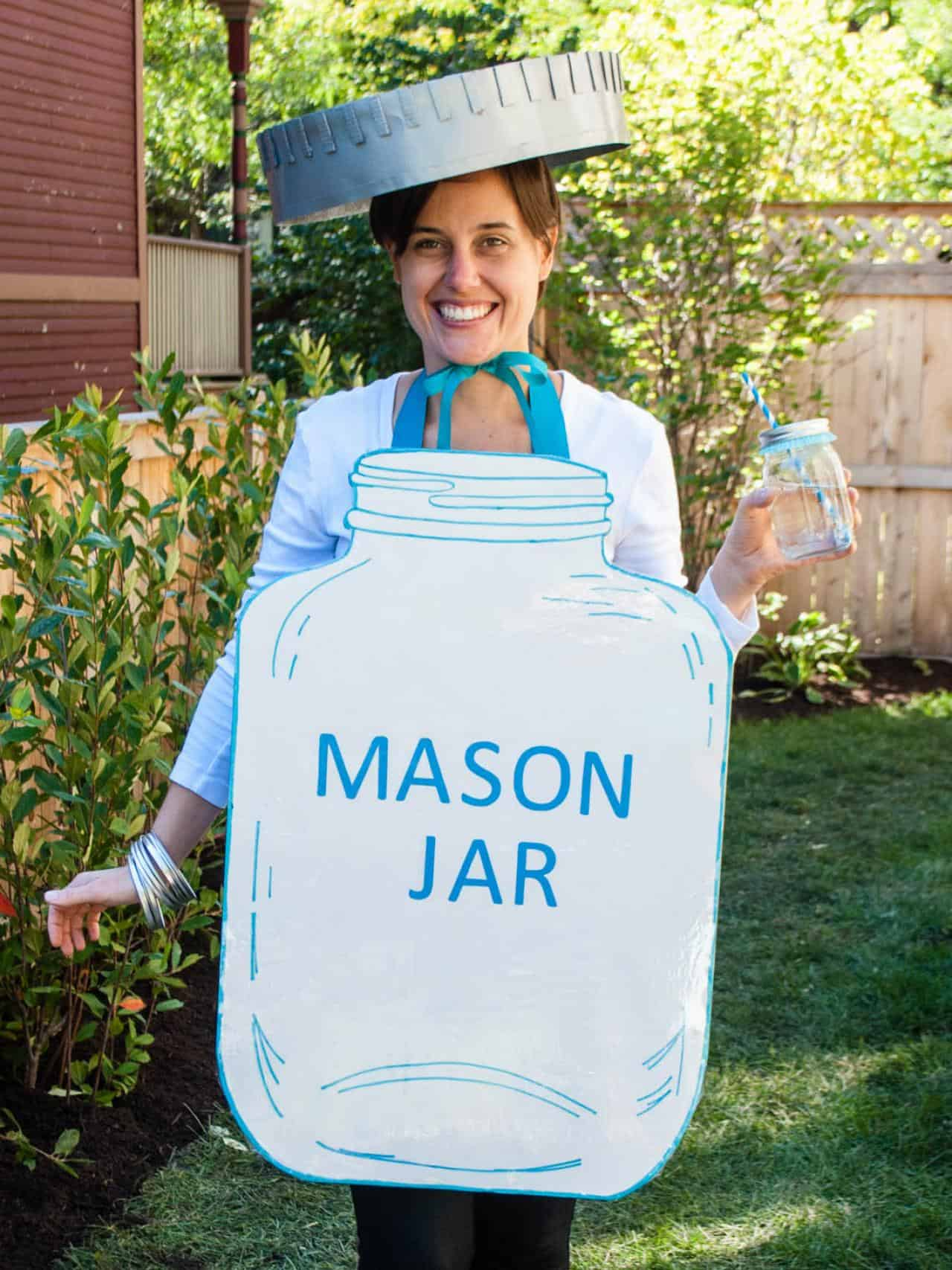 Mason jar diy costume