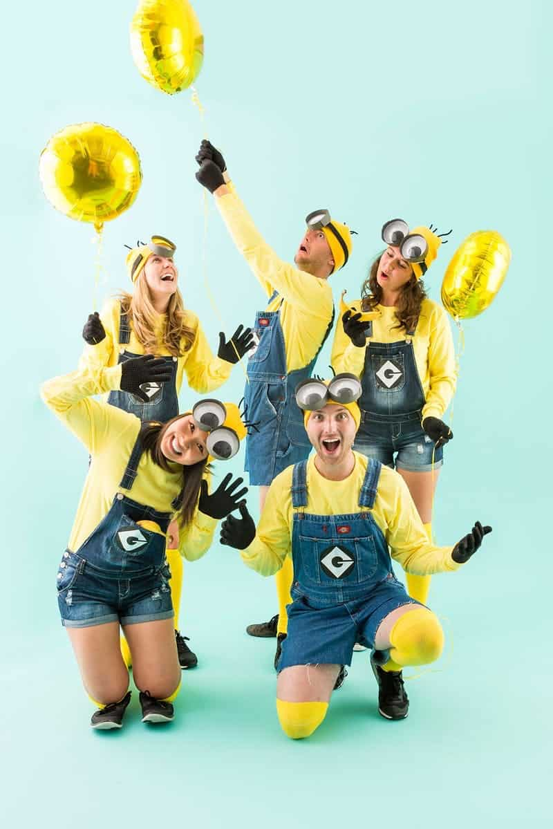 Minions group costume  sc 1 st  DIYS.com & These 15 DIY Group Halloween Costumes Are Perfect For The Squad!
