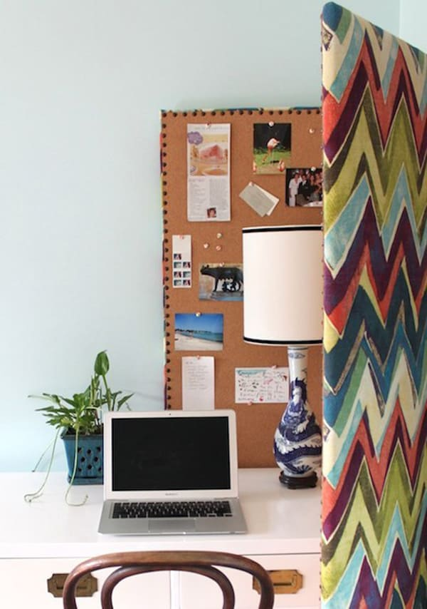 Multi purpose bulletin board diy
