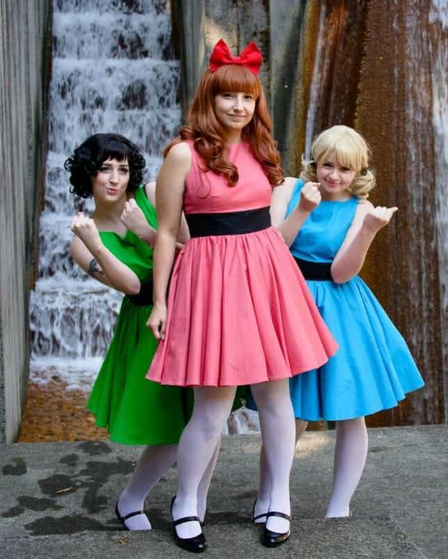 Powerpuff girls halloween group costume