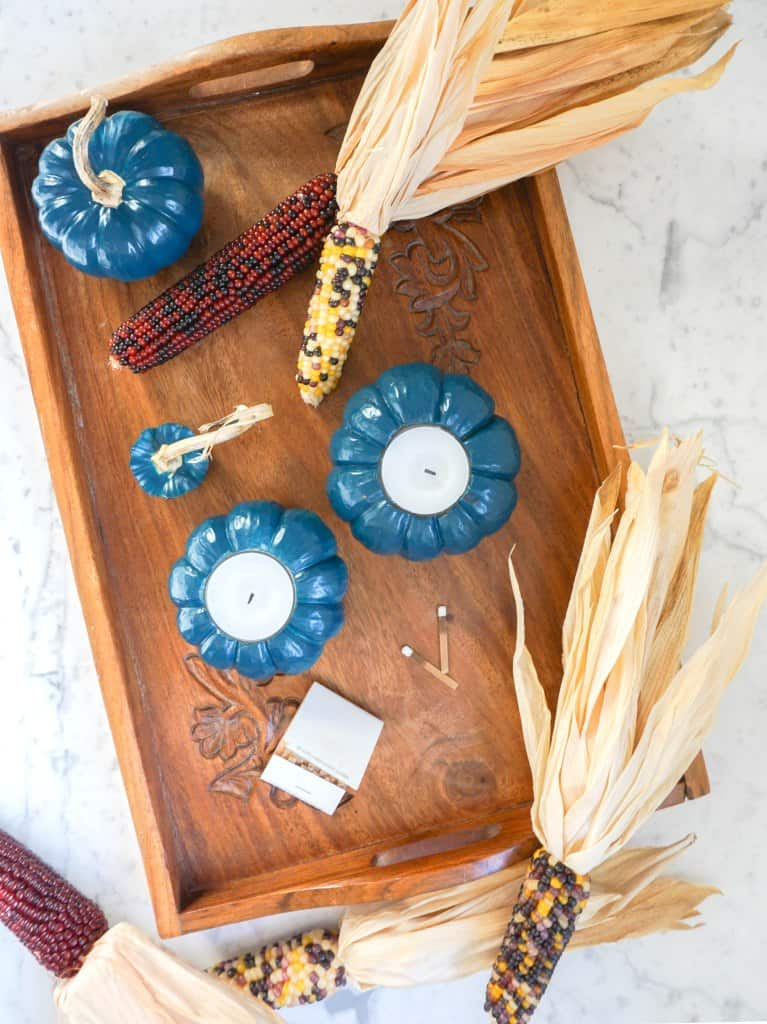 Pumpkin votives diy