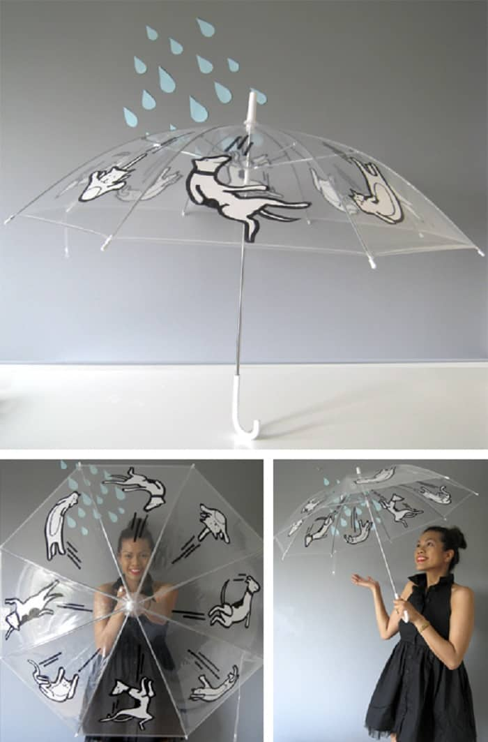 Raining cats and dogs umbrella diy