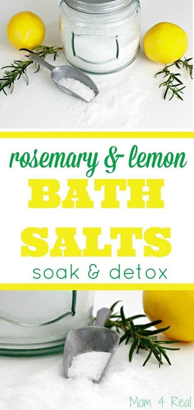 Rosemary and lemon detox bath