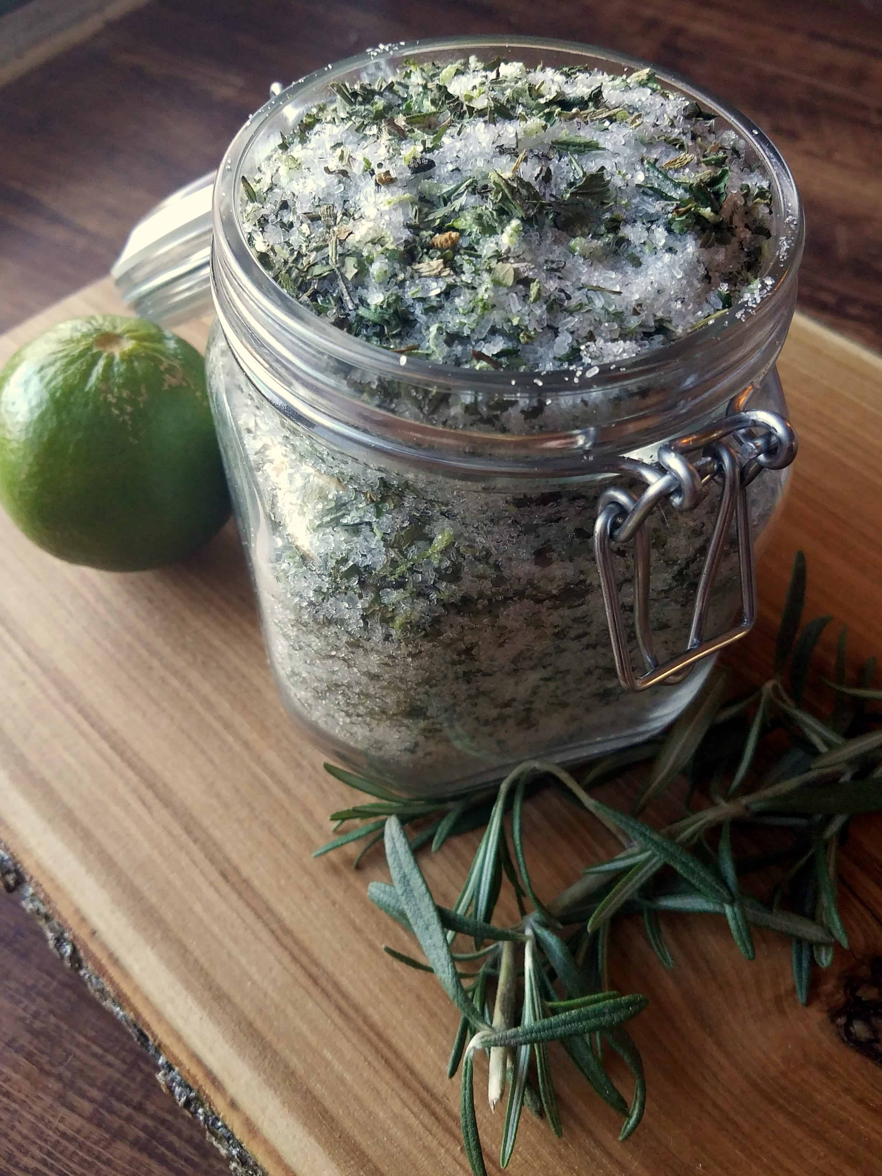Rosemary and lime detox bath