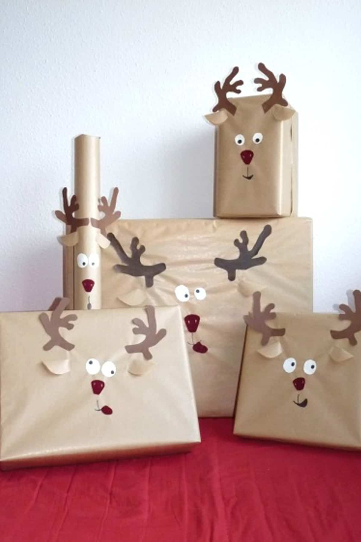 Rudolph reindeer gift wrap