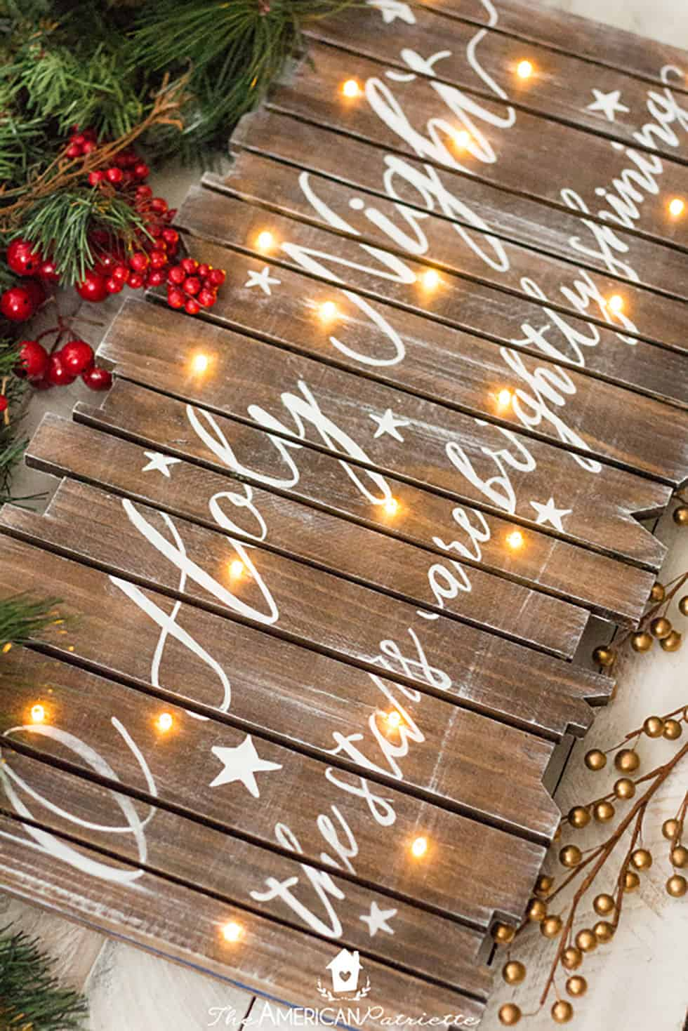 Rustic light up christmas sign diy