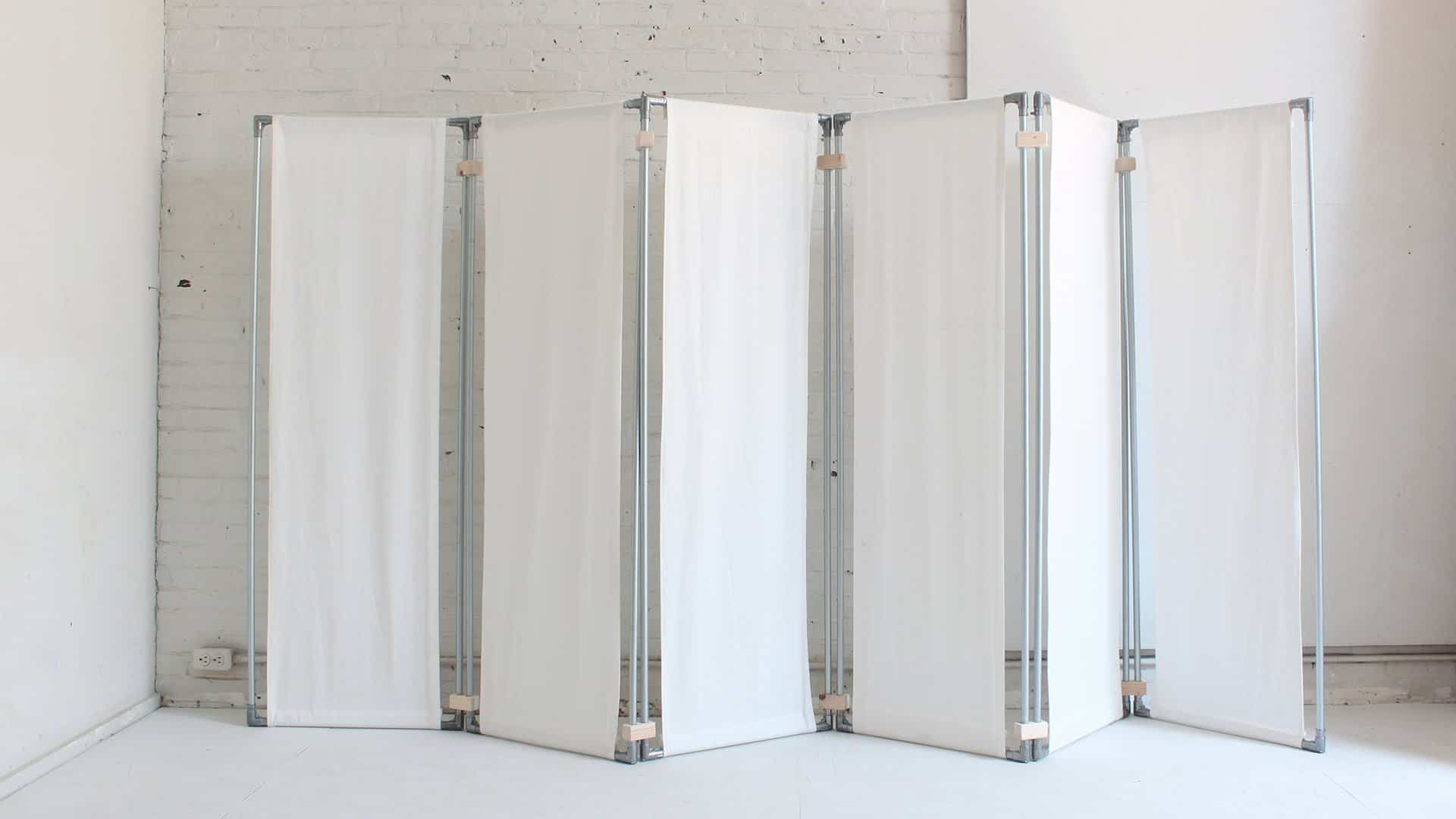 Simple and white room divider diy