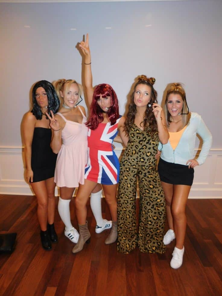Spice girls group costume  sc 1 st  DIYS.com & These 15 DIY Group Halloween Costumes Are Perfect For The Squad!