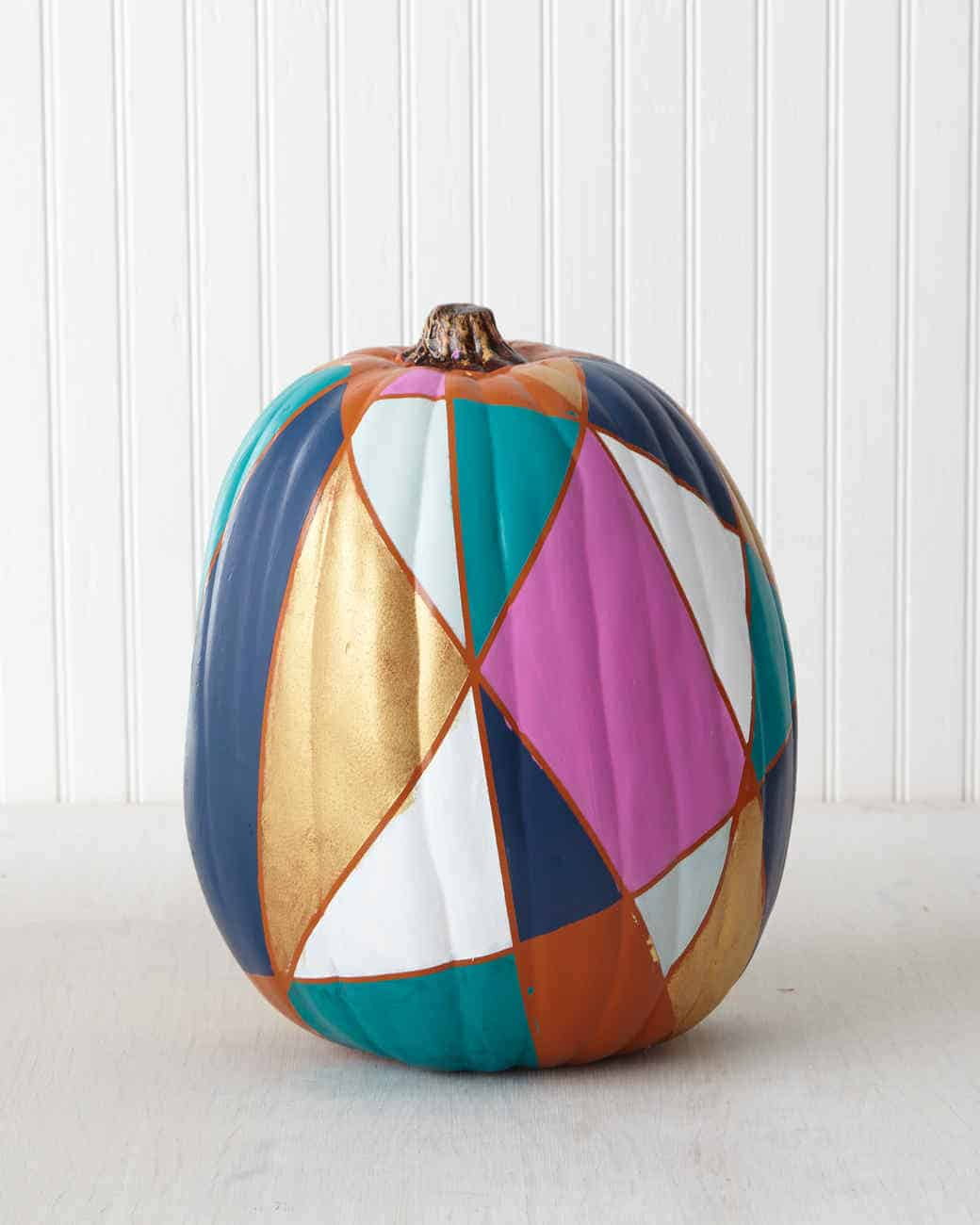 Stained glass pumpkin diy