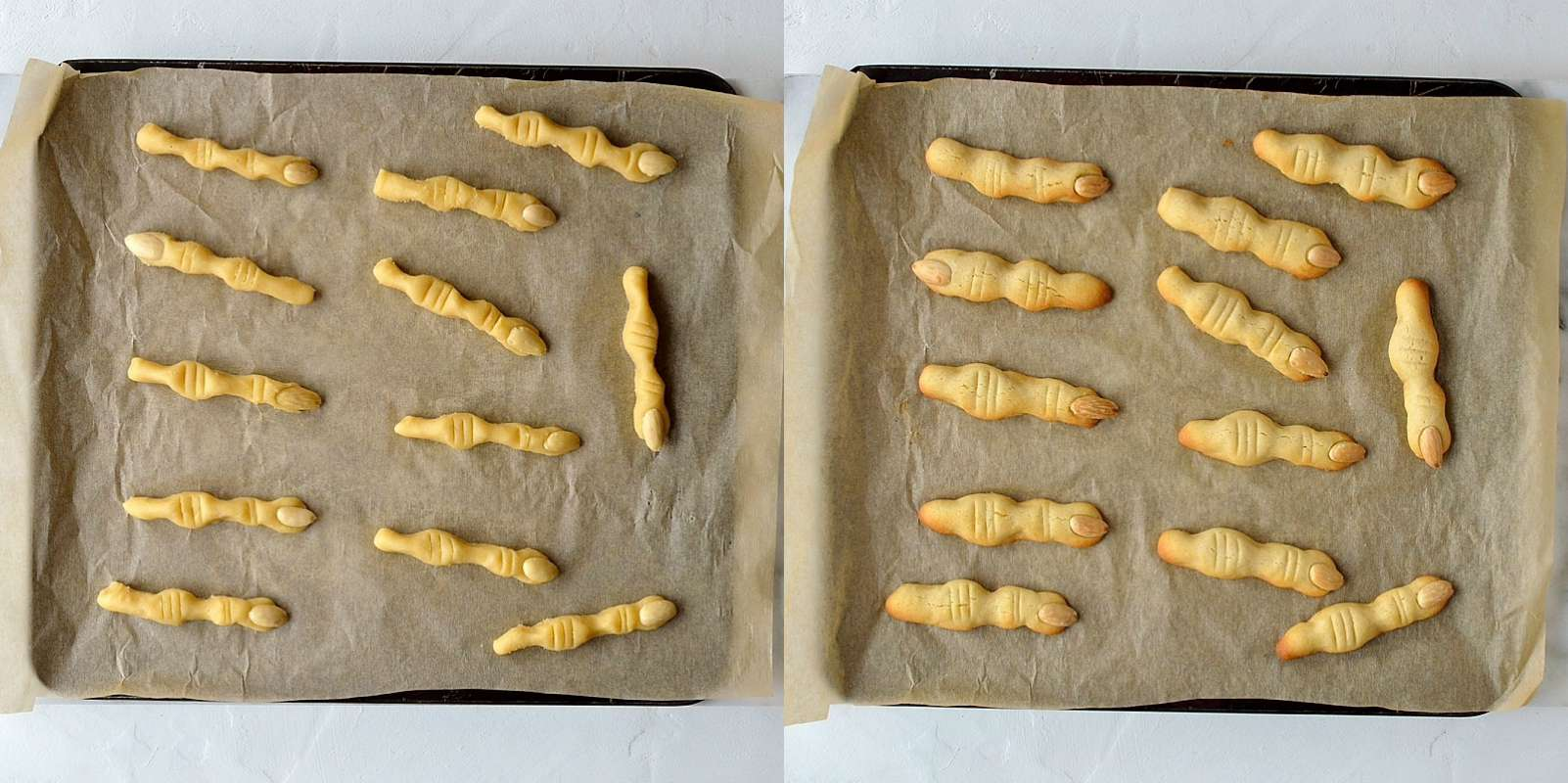 Witch finger cookies step 3