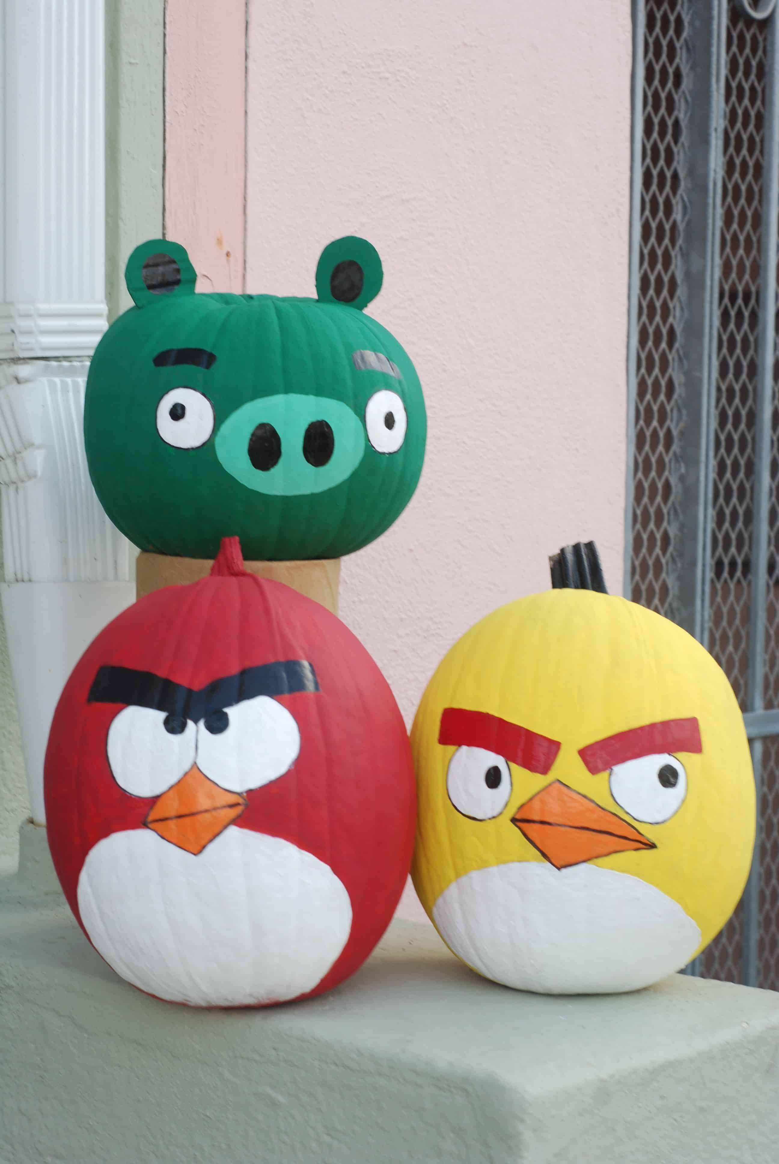 Angry birds pumpkins