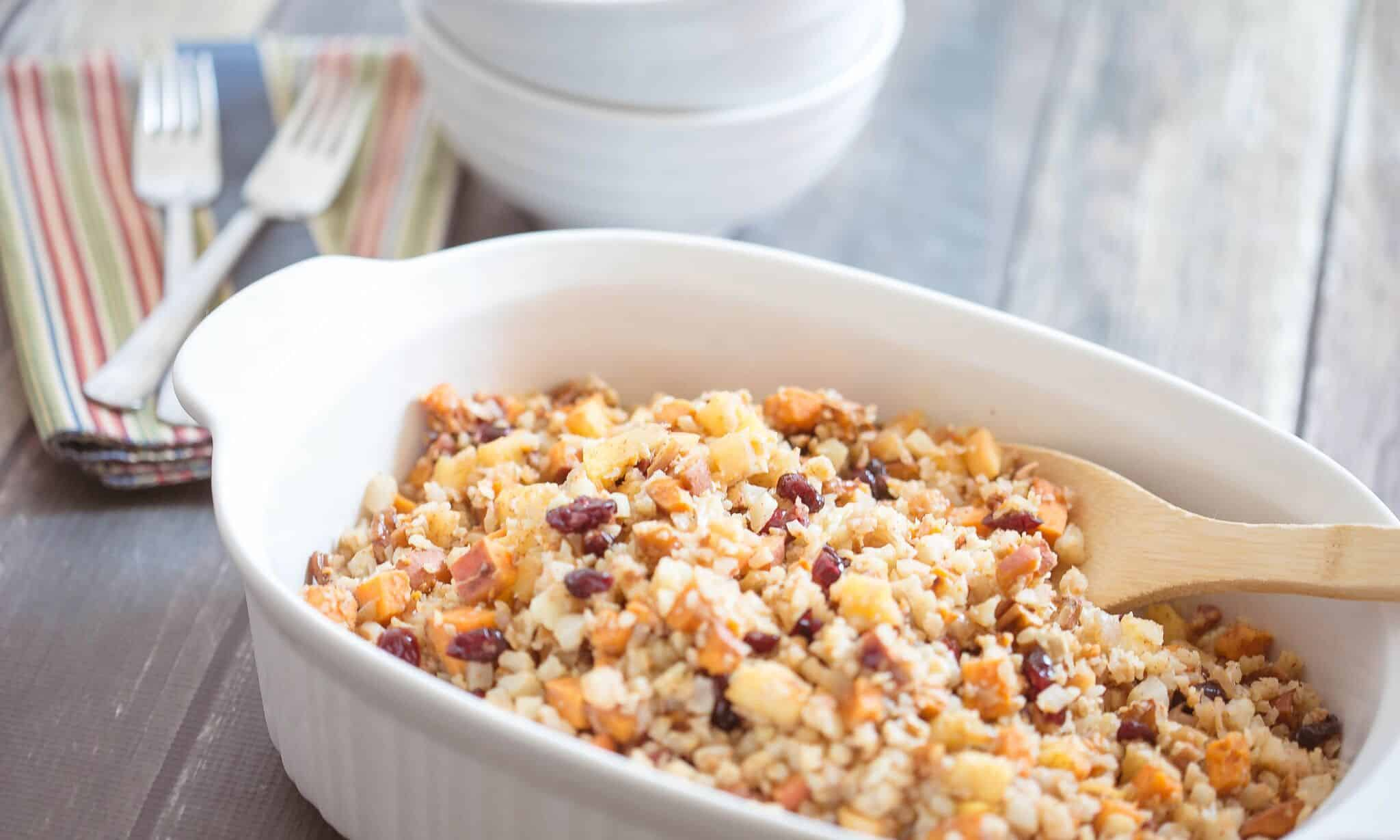 Cauliflower and pecan stuffing