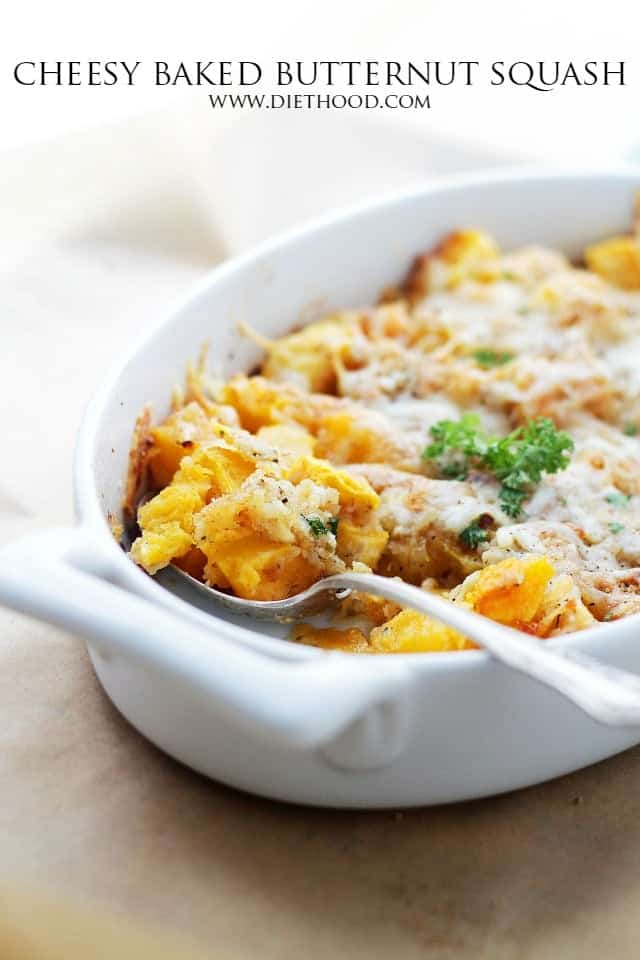 Cheesey baked butternut squash