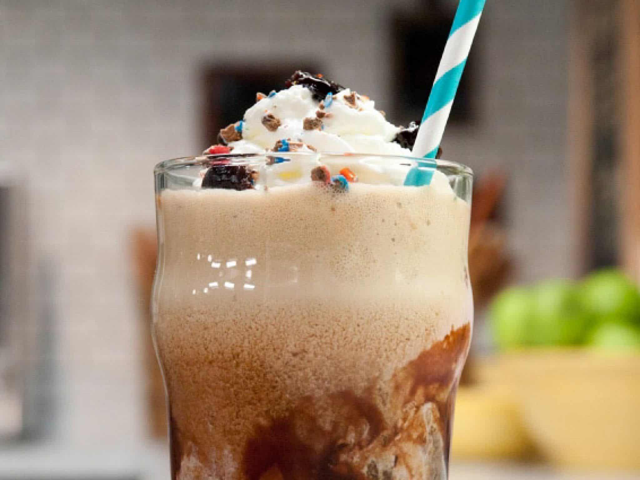 Coco cheery stout ice cream float