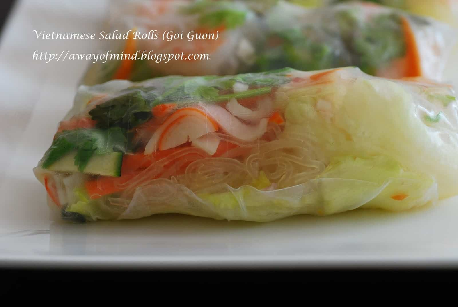 Crab and vermicelli rolls