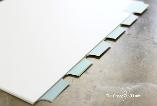 Diy binder tabs from paint chips
