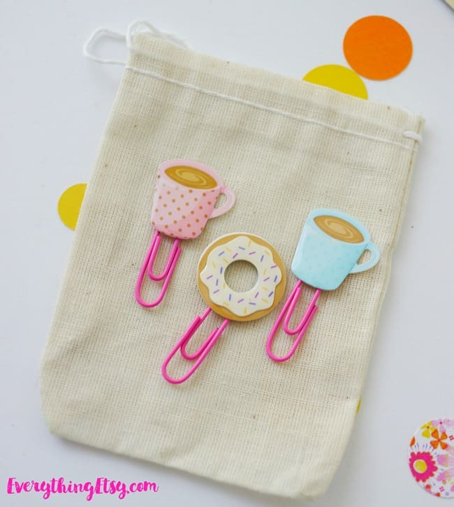 Diy planner paper clips cute sticker ideas on everythingetsy com
