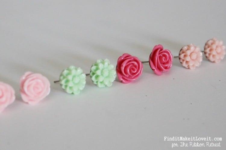 Diy resin jewelry studs