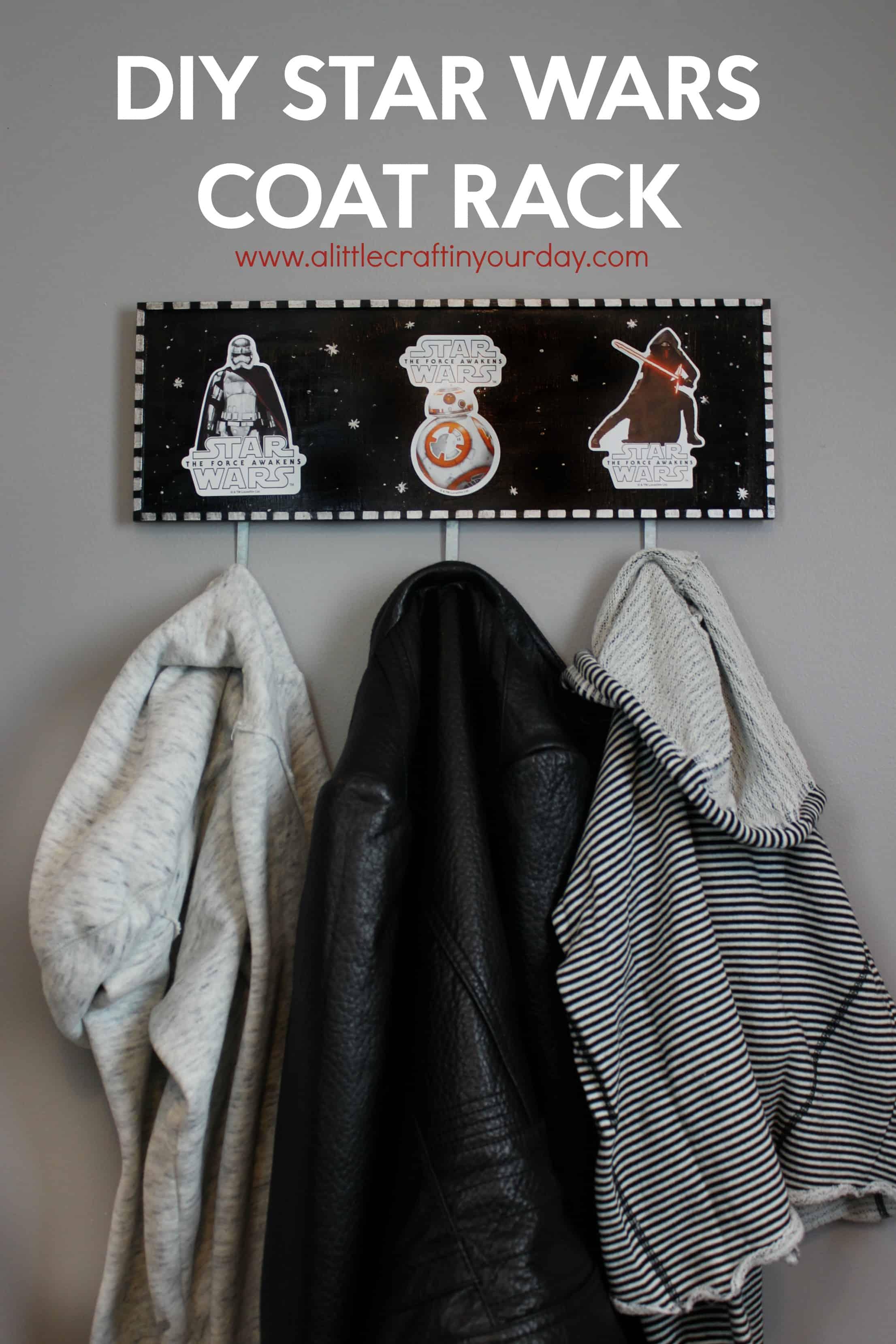 Diy star wars coat rack