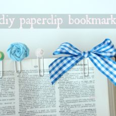 Diy paperclip bookmarks
