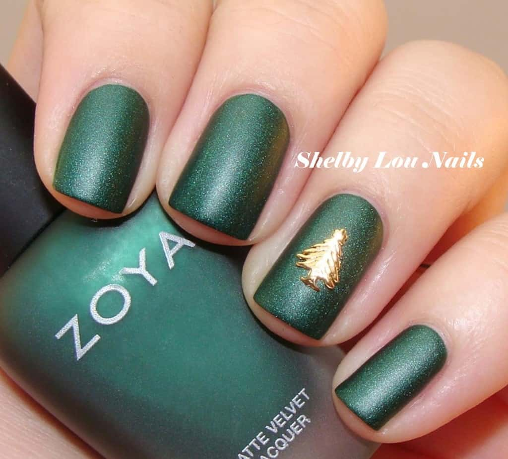 Deep green and christmas tree decals