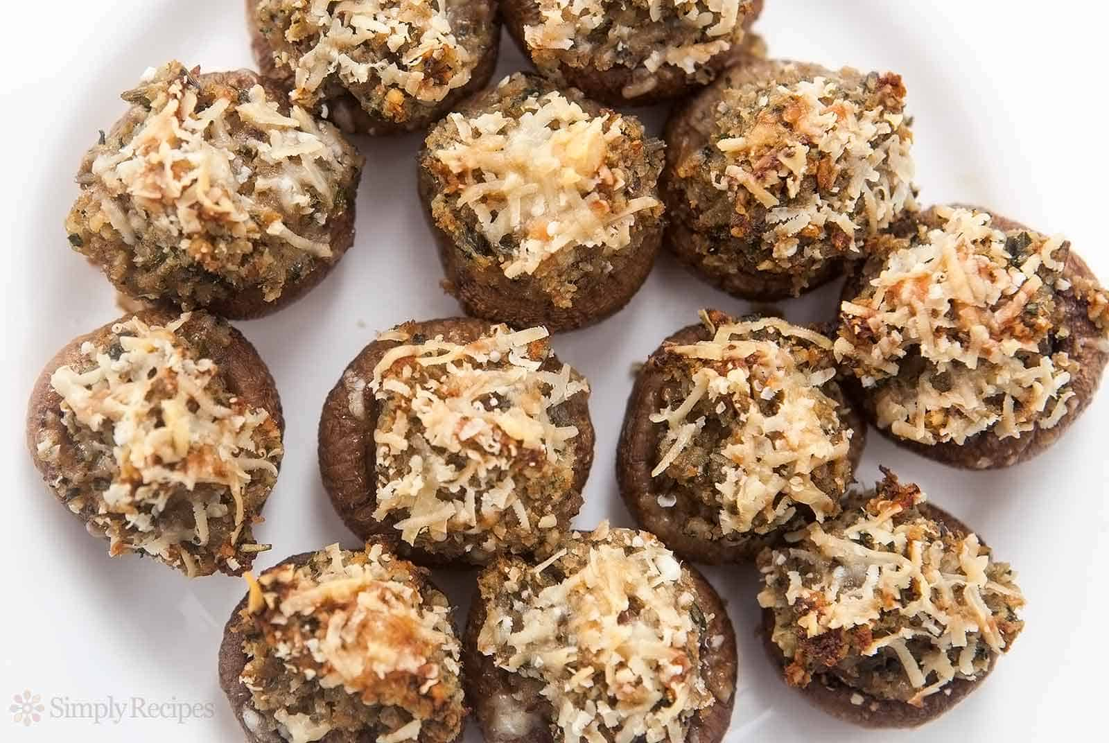 Delicious stuffed mushrooms