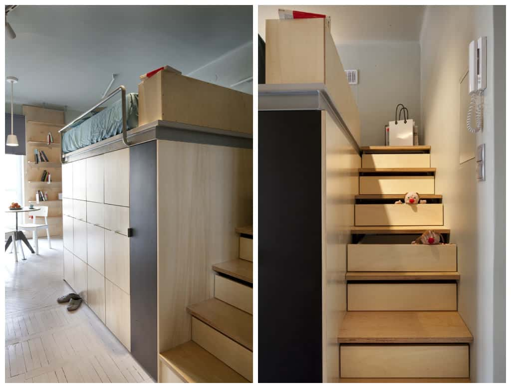Drawers in the stairs