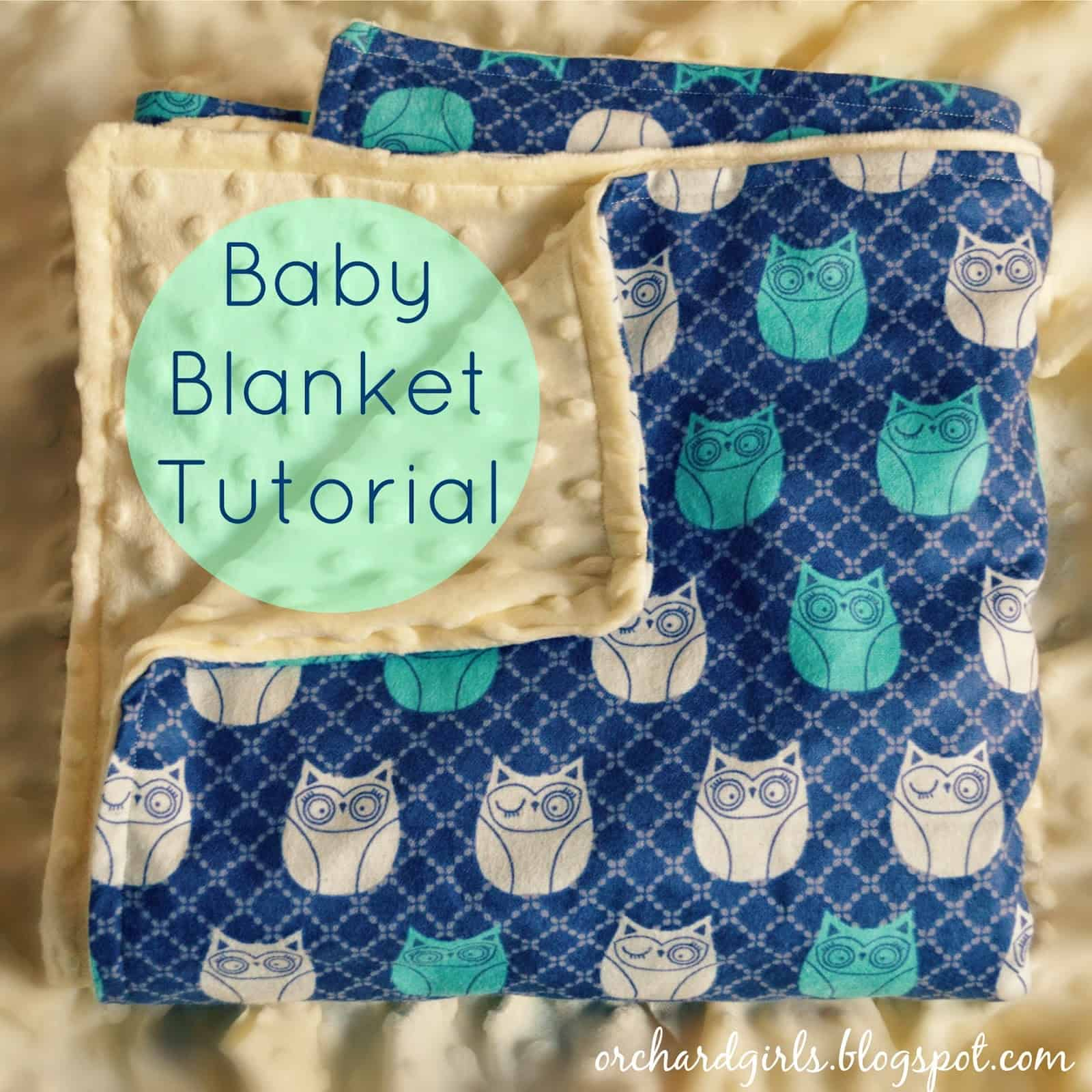Dual sided cuddle fabric baby blanket