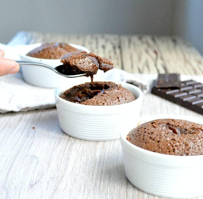 Easy sugar free chocolate lava cake