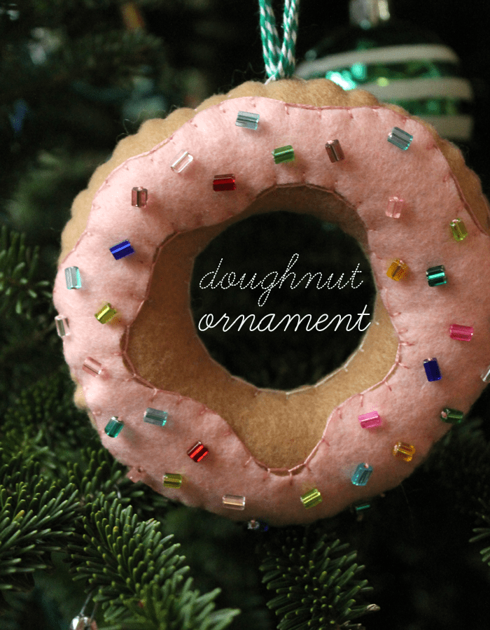 Felt+doughnut+ornament