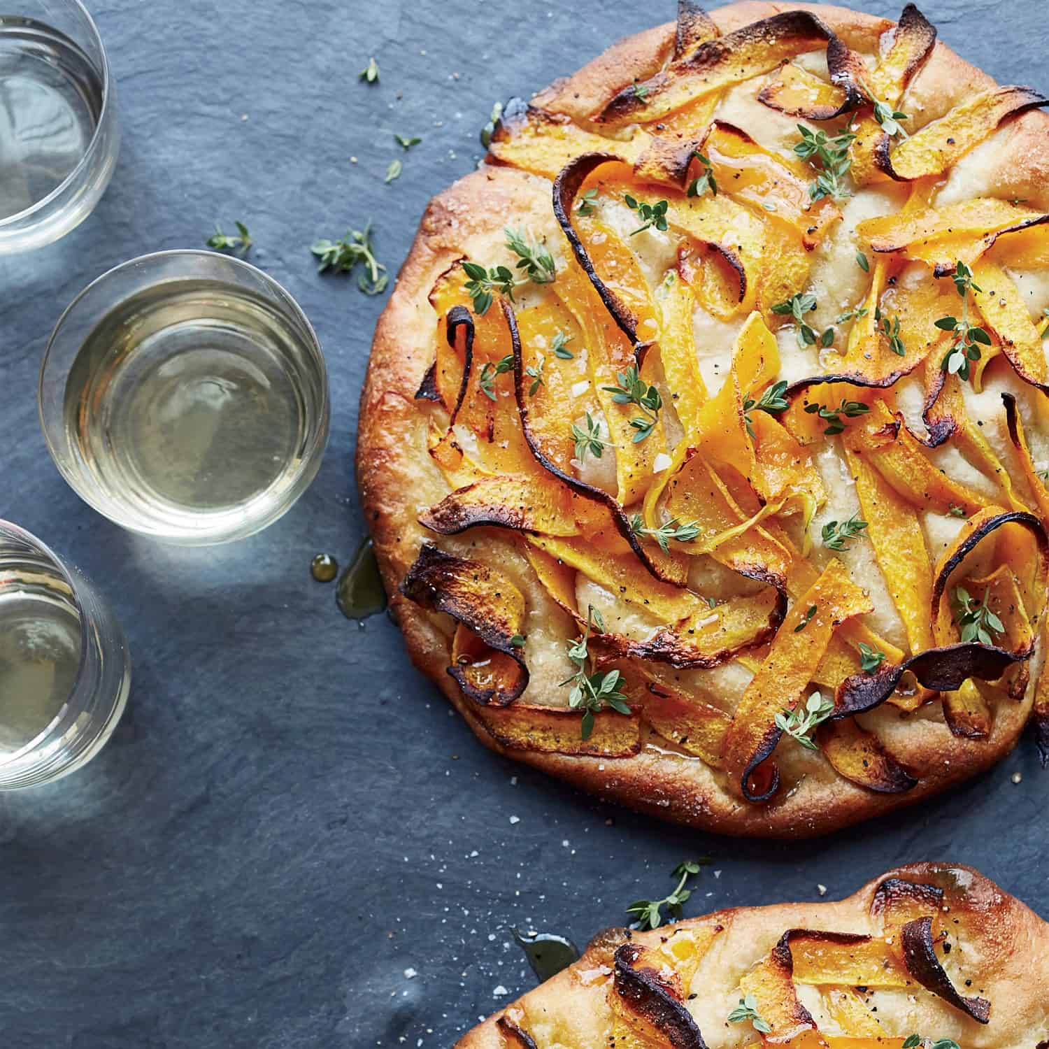 Foccacia with roasted squash