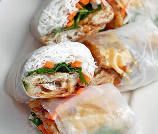 Fried crab summer rolls
