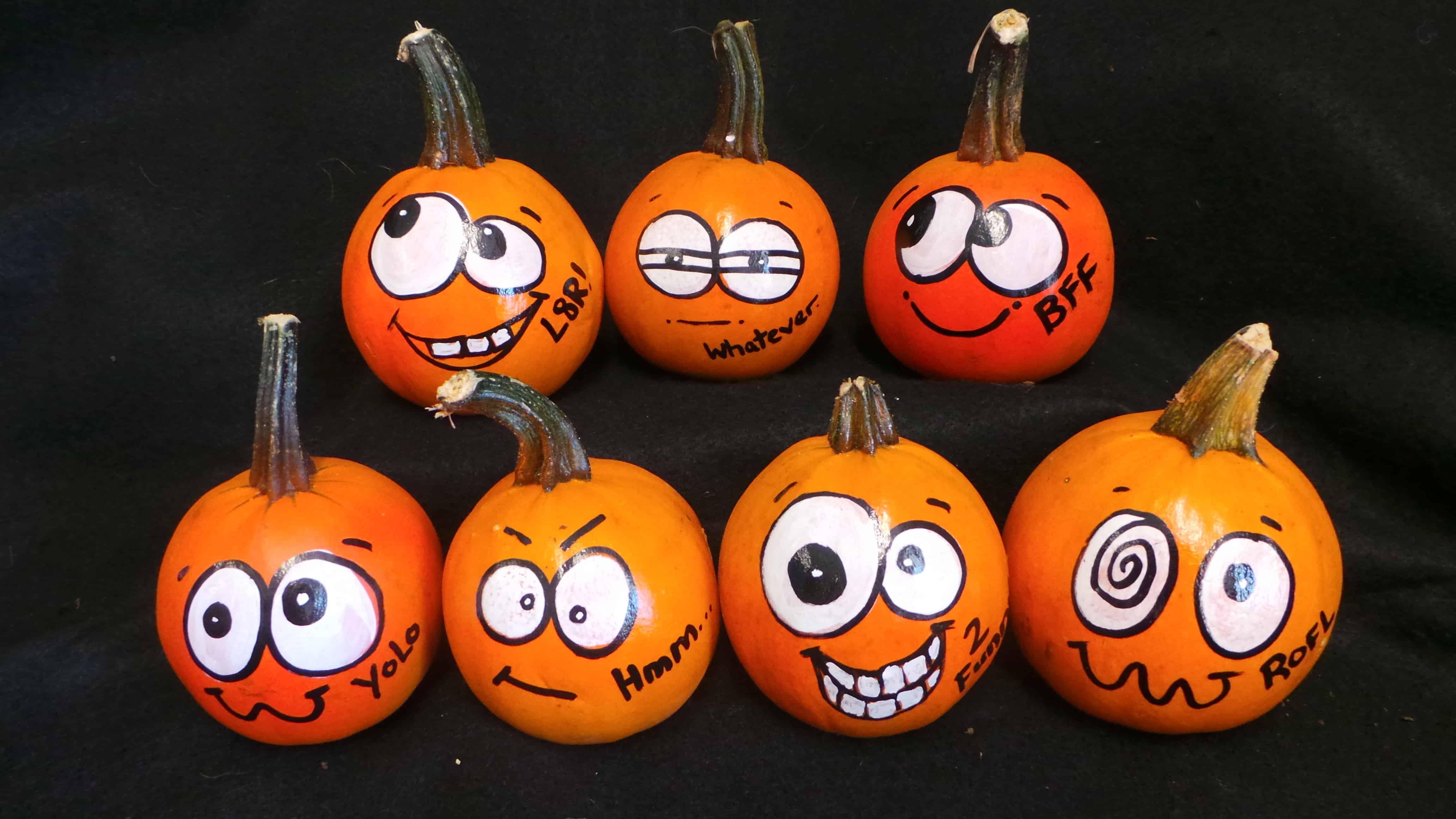 Funny face pumpkins