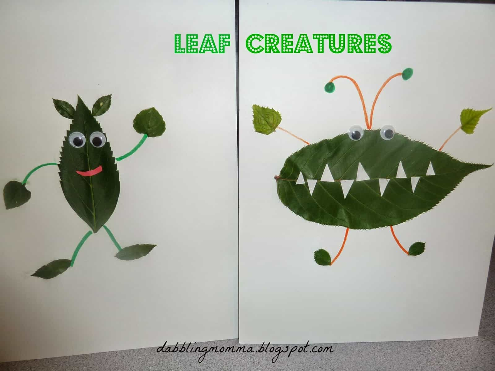 Funny leaf creatures