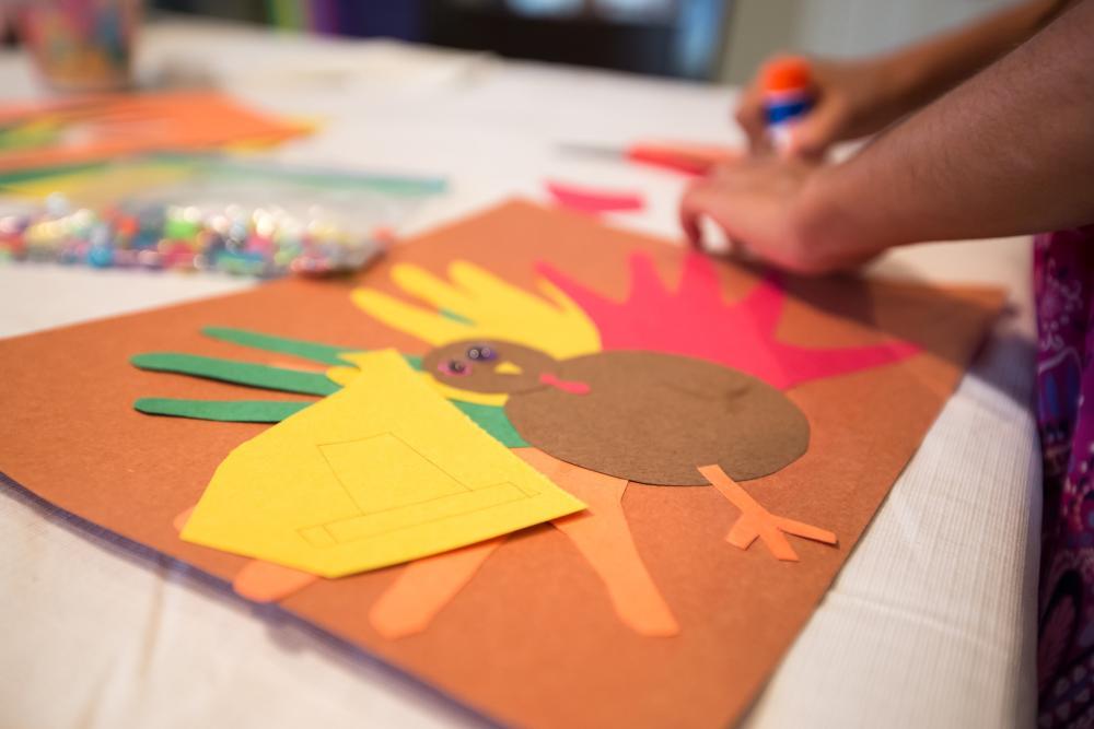Hand drawn turkeys thanksgiving arts and crafts