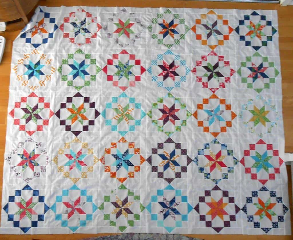 Kaleidoscope inspired quilt pattern