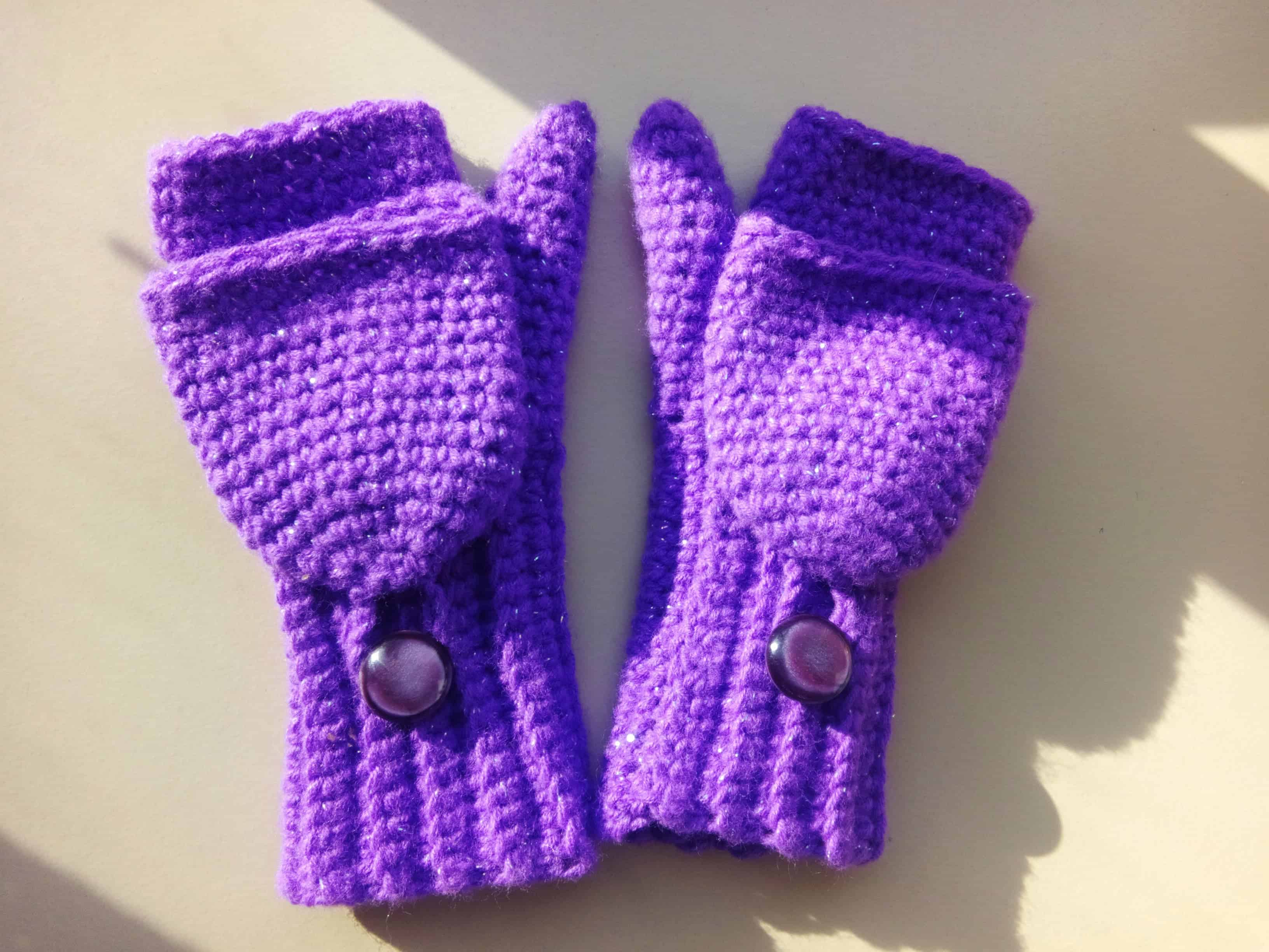 Kids' convertible fingerless mitts