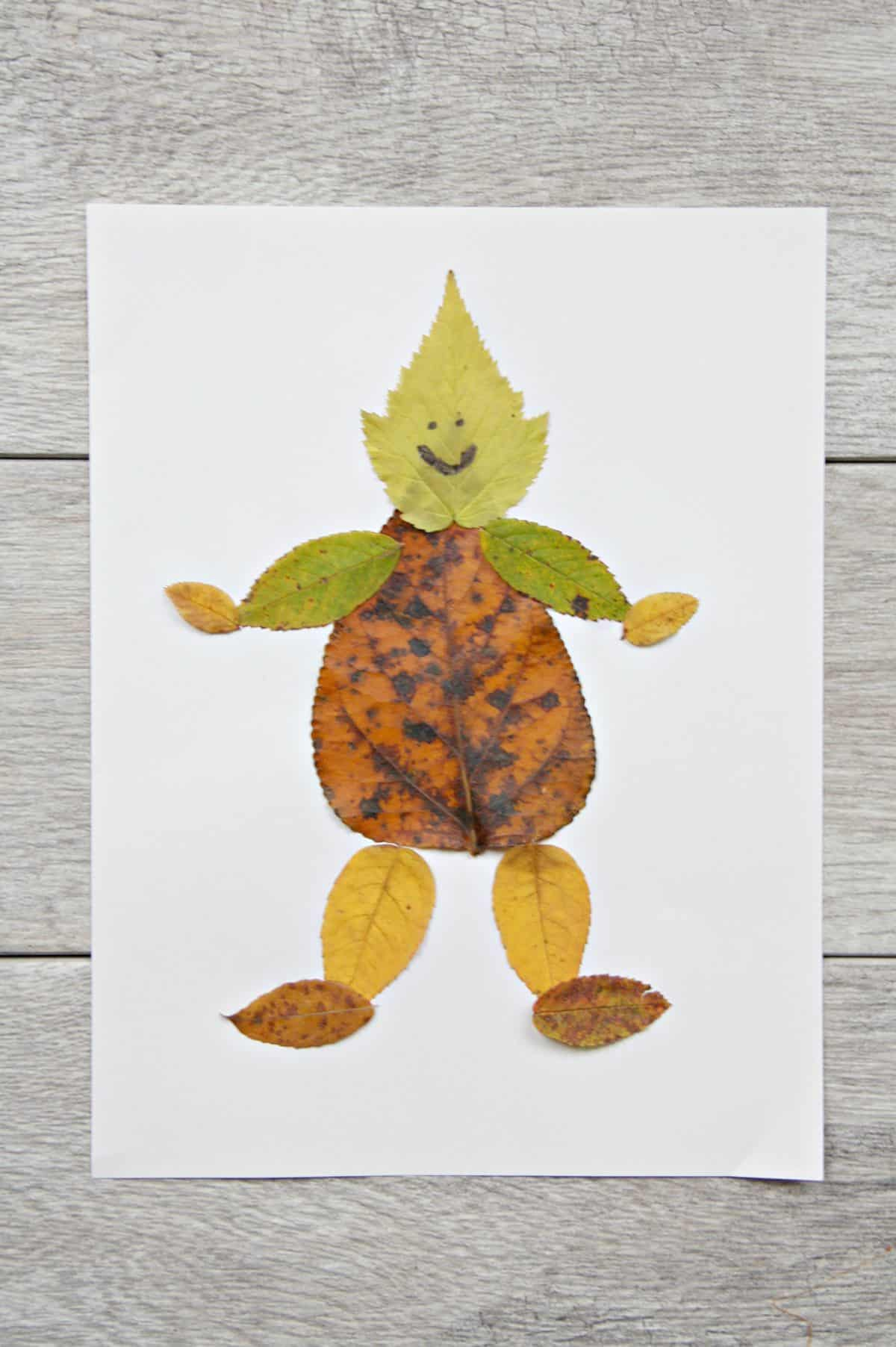Leaf collage characters