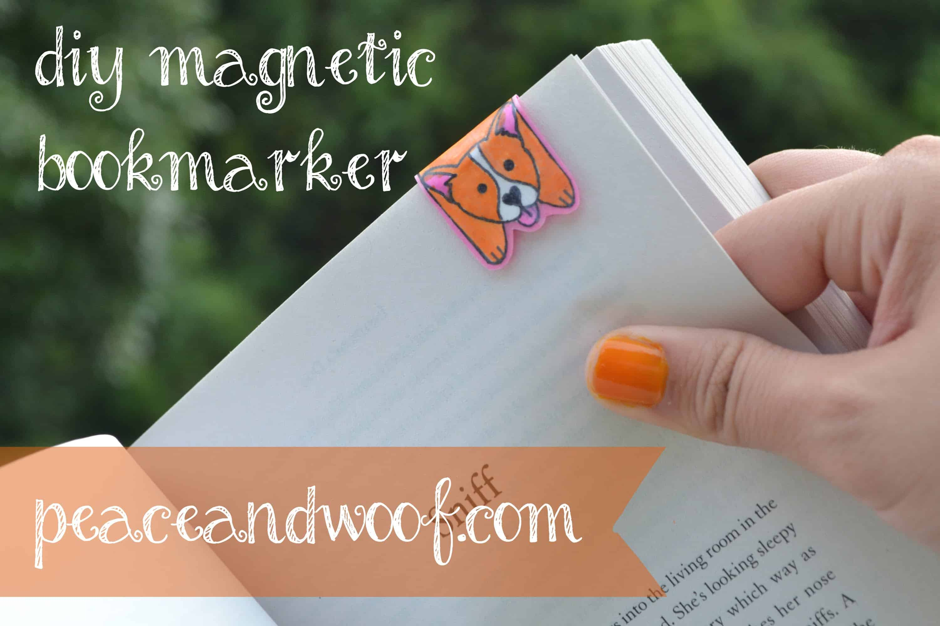 Magnetic doggy bookmark