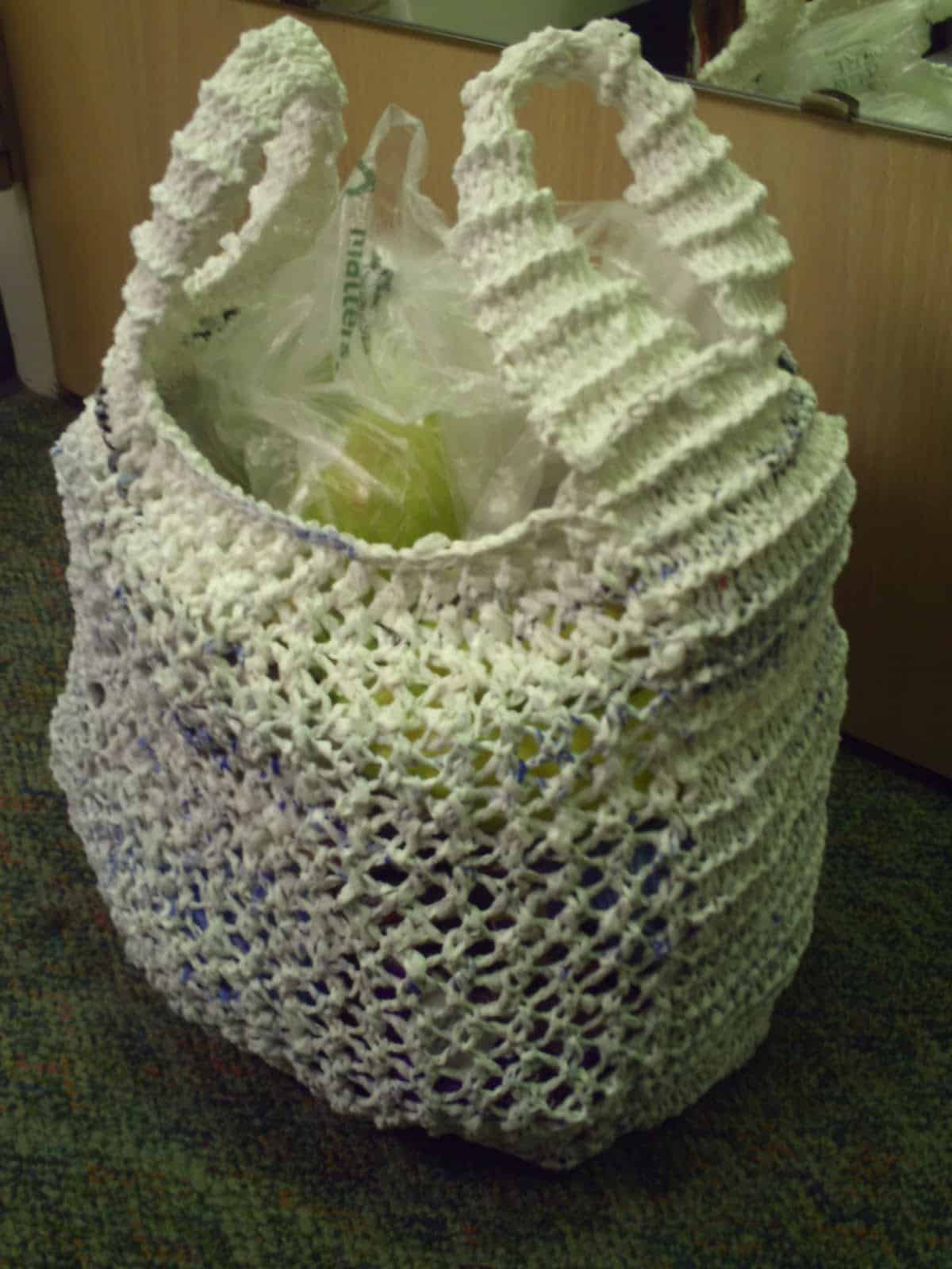 Mesh plarn grocery bag