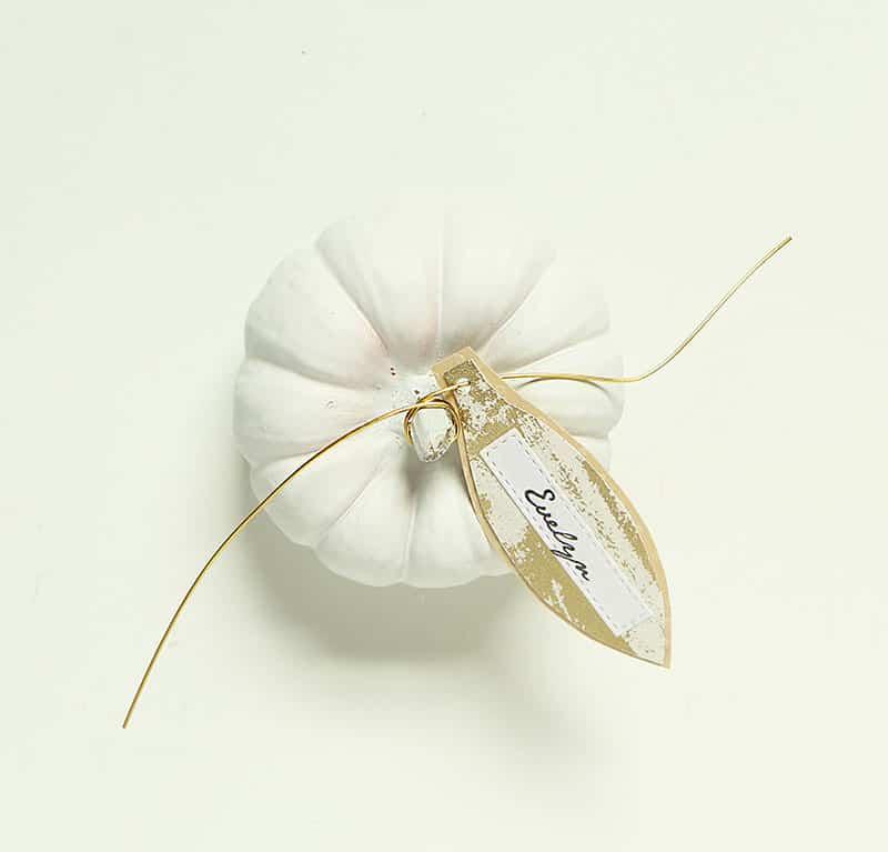 Mini diy pumpkin placecards diy