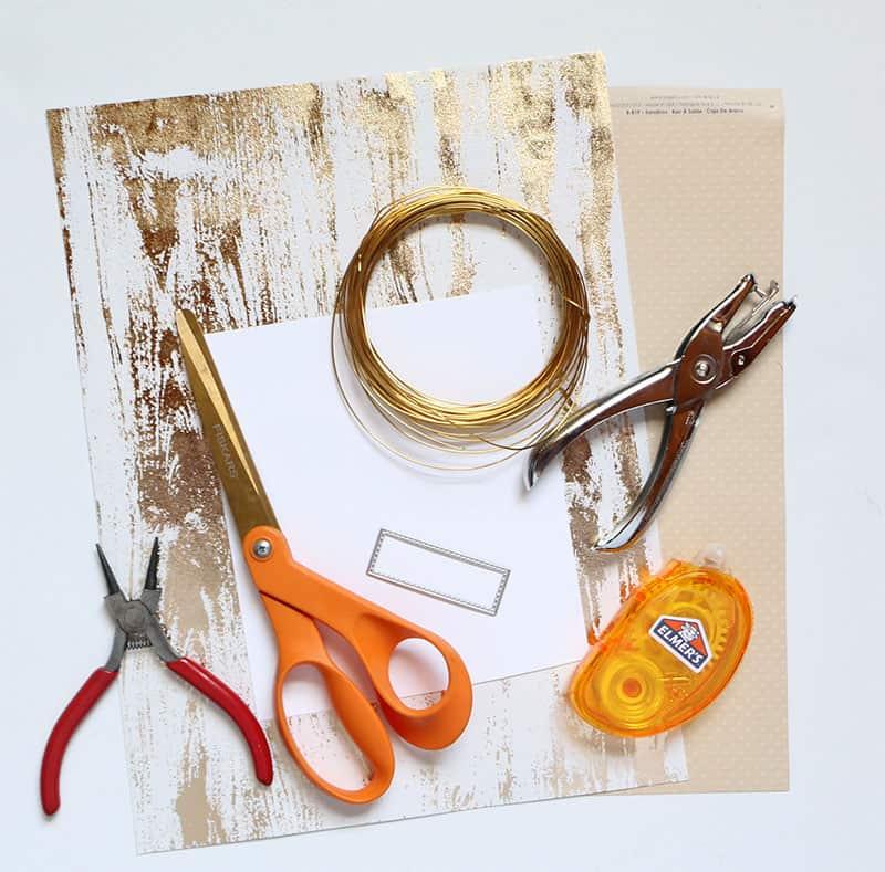 Mini diy pumpkin placecards materials