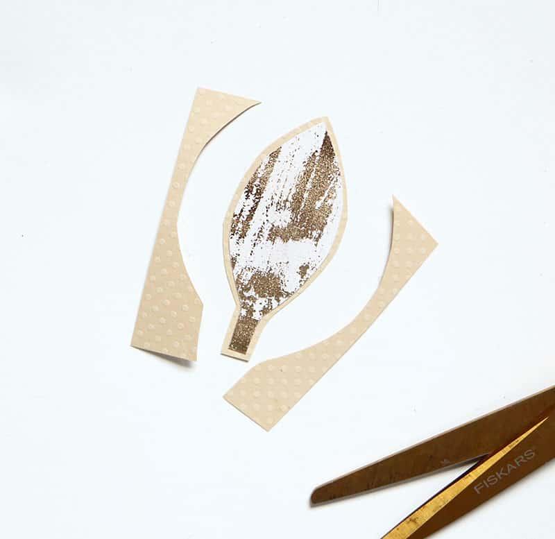 Mini diy pumpkin placecards leaf