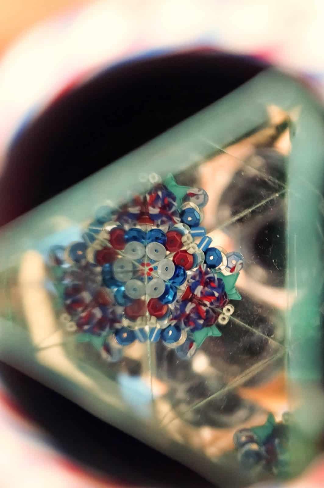 Mirror and tiny sequins kaleidoscope