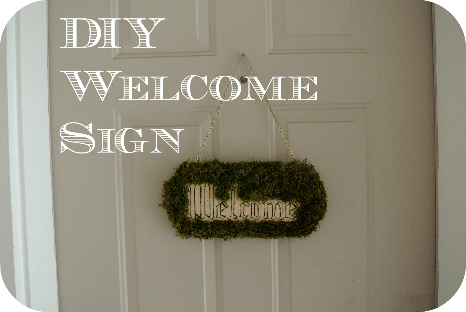 Moss covered welcome hanger