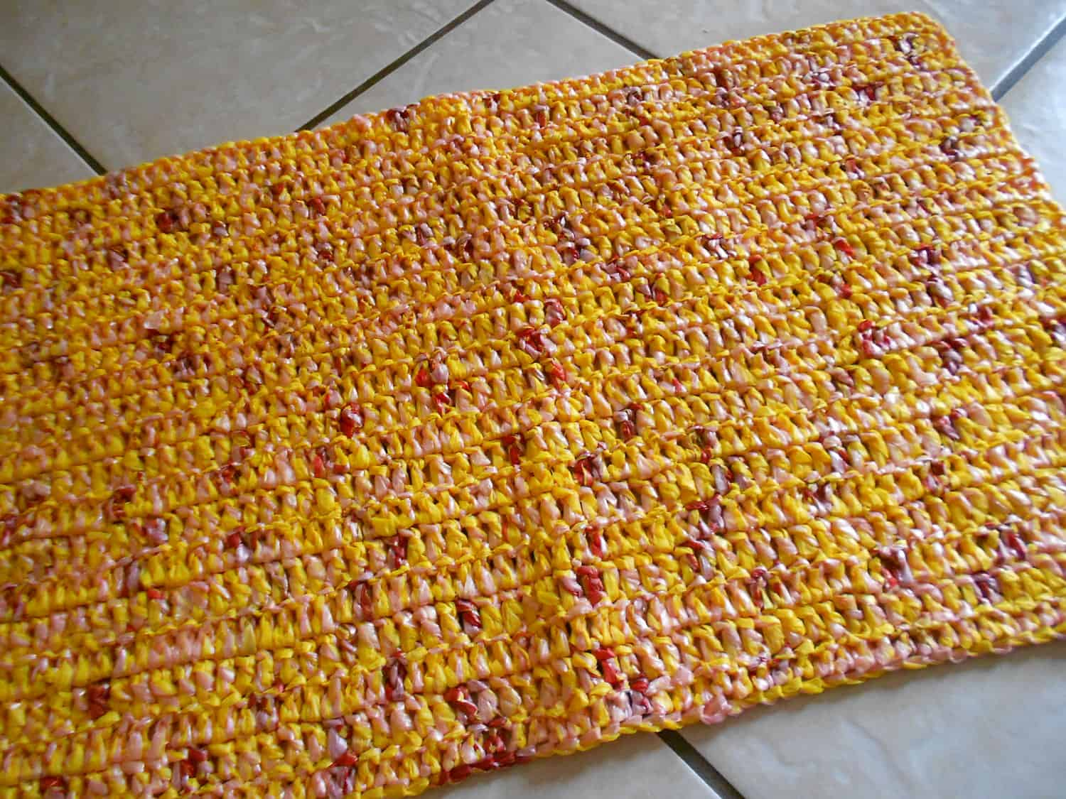 Multi coloured kitchen mat