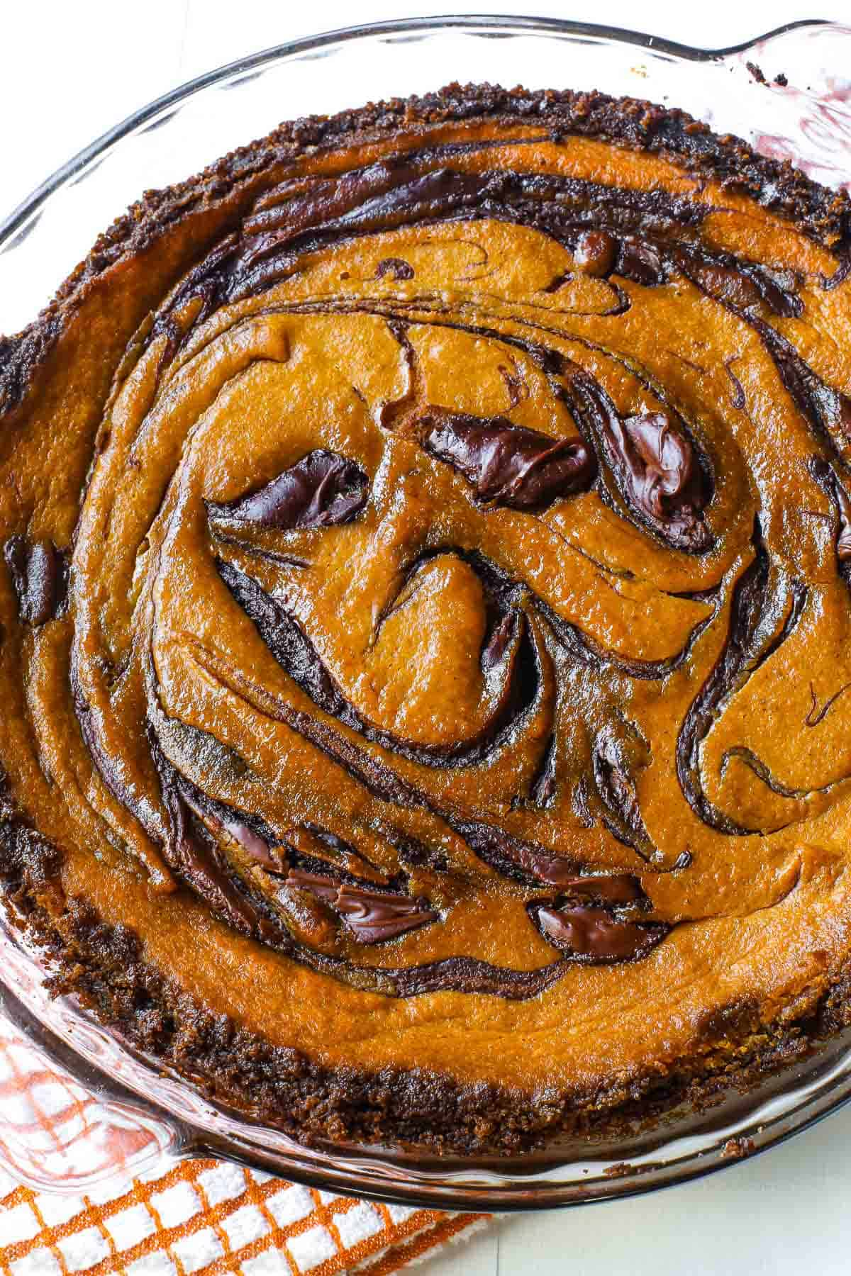 Nutella pumpkin pie